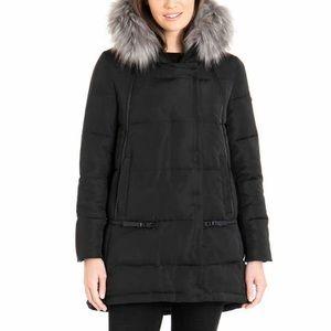 NWT Derek Lam 10 Crosby Ladies' Down Jacket Fur